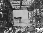Launching of carrier Yorktown, Newport News Shipbuilding and Dry Dock Company, Newport News, Virginia, United States, 4 Apr 1936