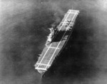 USS Yorktown anchored in the Caribbean Sea during her shakedown cruise, 17 Jan 1938