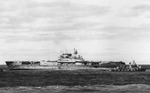 Destroyers Benham, Russell, Balch, and Anderson stood by as Yorktown was abandoned, afternoon of 4 Jun 1942, photo 2 of 2