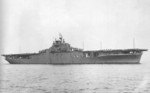 USS Yorktown underway off Norfolk Navy Yard, Portsmouth, Virginia, United States, 27 Apr 1943; note Measure 21 camouflage
