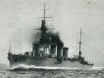 Light cruiser Yura as seen on a post card, date unknown