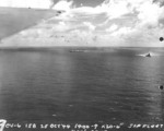 Zuikaku dead in the water, 25 Oct 1944; BB Ise at right of photo