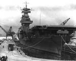 Yorktown in Dry Dock #1 of the Pearl Harbor Navy Yard, 29 May 1942