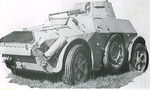 Italian AB 41 armored car, date unknown