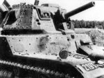 Close-up view of a Belgian A.C.G.1 cavalry tank, circa 1938-1940