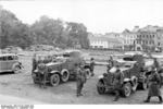 German troops inspecting Soviet BA-10 armored cars in Lublin, Poland, 3 Oct 1939