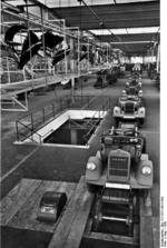 Blitz trucks being assembled at an Adam Opel AG factory in Brandenburg, Germany, 1936