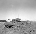 Churchill Crocodile flamethrower tank, 25 Aug 1944