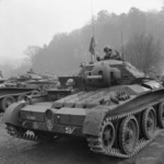 Covenanter cruiser tanks of 2nd (Armoured) Irish Guards of British Guards Armoured Division during an inspection of Southern Command, England, United Kingdom, 3 Mar 1942