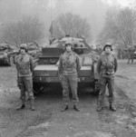 Covenanter tanks of the 2nd (Armoured) Irish Guards, British Guards Armoured Division during an inspection, Britain, 3 Mar 1942