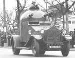 Japanese Navy Crossley armored car in Shanghai, China, 1930s