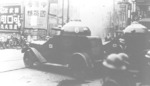 Japanese Crossley armored cars fighting in Shanghai, China, 1930s