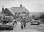 Cruiser Mk IV tank and Light Tank Mk VIB of 3rd County of London Yeomanry of British 1st Armoured Division on exercise at Arundel, Sussex County, England, United Kingdom, 5 Feb 1941