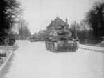 Cruiser Mk IV tanks parading through Alton, Hampshire county, England, United Kingdom, 10 Mar 1941