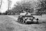 Destroyed British Cruiser Mk IV tank in France, on or shortly after 30 May 1940