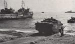 US Army DUKW landing on a beach in southern France, 1944, photo 3 of 3