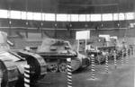 FT-17, Panzer I Ausf. A, T-26, and Vickers 6-ton Type B tanks, captured in China, on display at Hanshin Koshien Stadium in Nishinomiya, Japan, Feb 1939