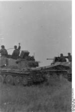 German Waffen-SS troops operating a Grille self-propelled gun in Russia, Jul 1943, photo 1 of 2