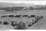 German field camp in Yugoslavia, 1941; note French-built Panzerkampfwagen 39H 735(f) tanks