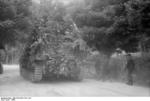 Camouflaged German Army Hornisse/Nashorn tank destroyer, Italy, 1944, photo 1 of 2