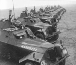 Humber Light Reconnaissance Cars Mk II of 29th Independent Squadron of British Reconnaissance Corps at Shanklin, Isle of Wight, England, United Kingdom, Mar 1942