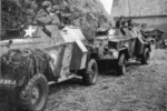 Humber Light Reconnaissance Cars Mk IIIA of No. 2806 Armoured Car Squadron RAF Regiment near Eindhoven, the Netherlands, Sep 1944