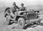 Willys MA jeep at the Desert Training Center, Indio, California, United States, Jun 1942