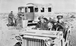 RAAF officers in a Bantam BRC 40 Jeep in the Libyan desert, late 1941