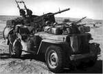 Heavily armed and specially modified jeep of British L Detachment SAS, North Africa, early 1943, photo 1 of 5