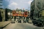 Street scene in Chongqing, China shortly after Allied victory, Aug-Sep 1945