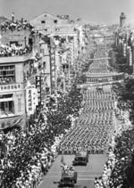 Jeeps in the National Day parade, Taipei, Taiwan, Republic of China, 10 Oct 1961, photo 1 of 2