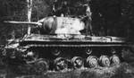 SOviet-built KV-1 tank in Finnish service, date unknown