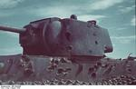 Wrecked KV-1 tank, Stalingrad, Russia, Aug 1942, photo 1 of 3
