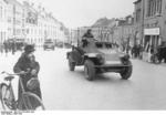 German SdKfz. 223 armored radio car in Denmark, 12 Apr 1940