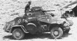German SdKfz. 222 armored car in North Africa, date unknown