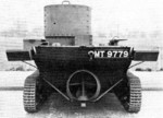 Rear view of a Vickers-Carden-Loyd A4E12 Light Amphibious Tank, 1930s