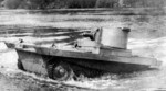 Vickers-Carden-Loyd A4E11 Light Amphibious Tank making landfall, 1930s