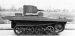 Side view of a Vickers-Carden-Loyd A4E12 Light Amphibious Tank, 1930s