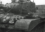Wrecked T26E3 heavy tank