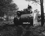 M3 medium tank on a training mission at Fort Benning, Georgia, United States, Apr 1942
