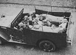 American-built M3A1 Scout Car in British service as an ambulance, circa 1940
