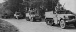 American M2 Half-track and M3 Gun Motor Carriage vehicles, date unknown