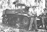 M3A1 light tank of the United States Marine Corps at Guadalcanal, Solomon Islands, 1942