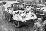 M8 armored cars of the US 28th Constabulary Squadron, Germany, Feb 1952