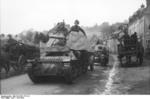 Marder I tank destroyer in a Belgian or French town, 1943-1944, photo 1 of 2