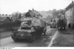 Marder I tank destroyer in a Belgian or French town, 1943-1944, photo 2 of 2