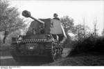 Marder I tank destroyer on the move in southern France, 1942