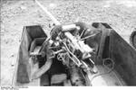 Close-up view of a PaK 40 gun mounted on a Marder II tank destroyer, Kharkov, Ukraine, early 1943, photo 6 of 7