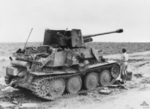 Abandoned German Marder III tank destroyer in North Africa, 9 Feb 1943, photo 2 of 2