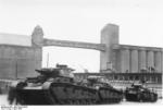 Three German Neubaufahrzeug heavy tanks at Oslo, Norway, 19 Apr 1940